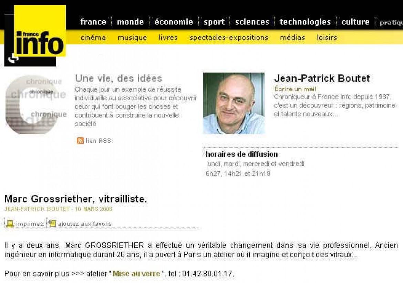 2008-03 Marc Grossriether sur France Info
