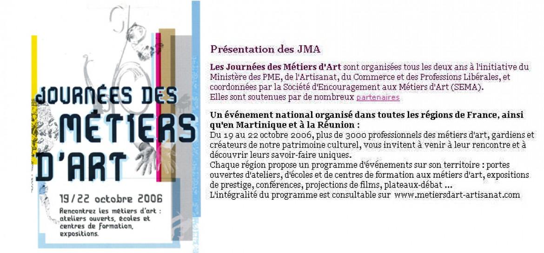 Journee Métiers d'art-2006