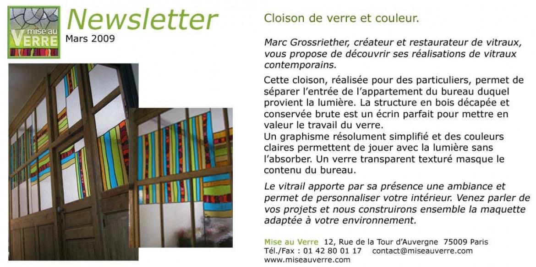 Newsletter 2 – 03/2009