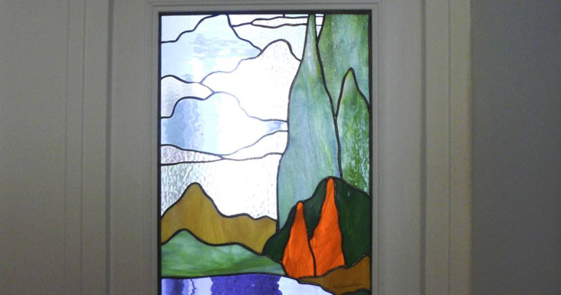Paysage inspiré de Maurice Denis