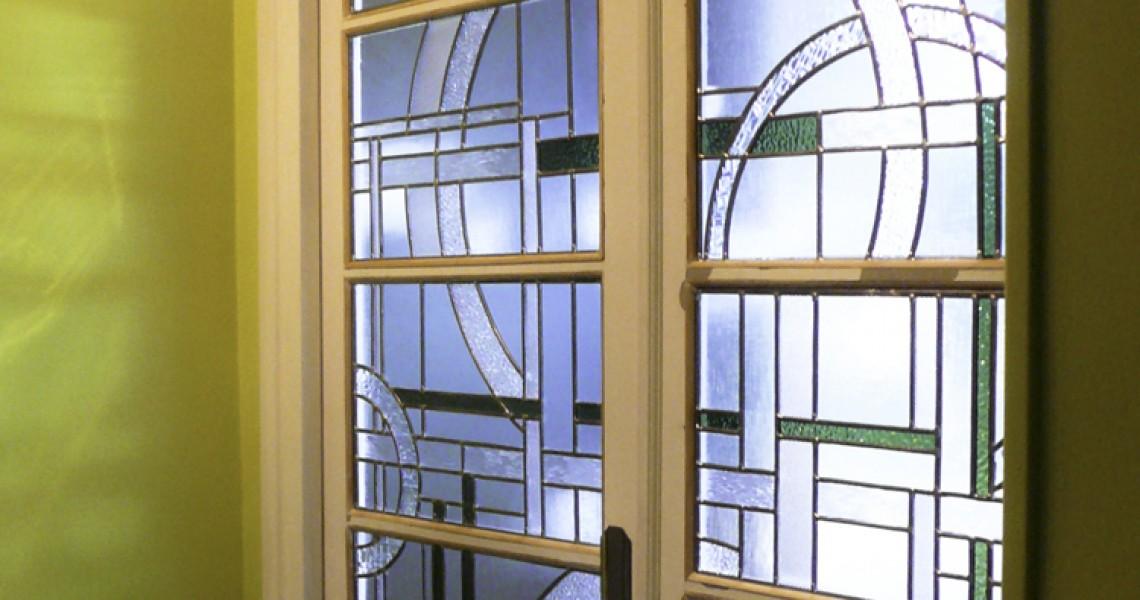 Porte Art Deco Mise Au Verre