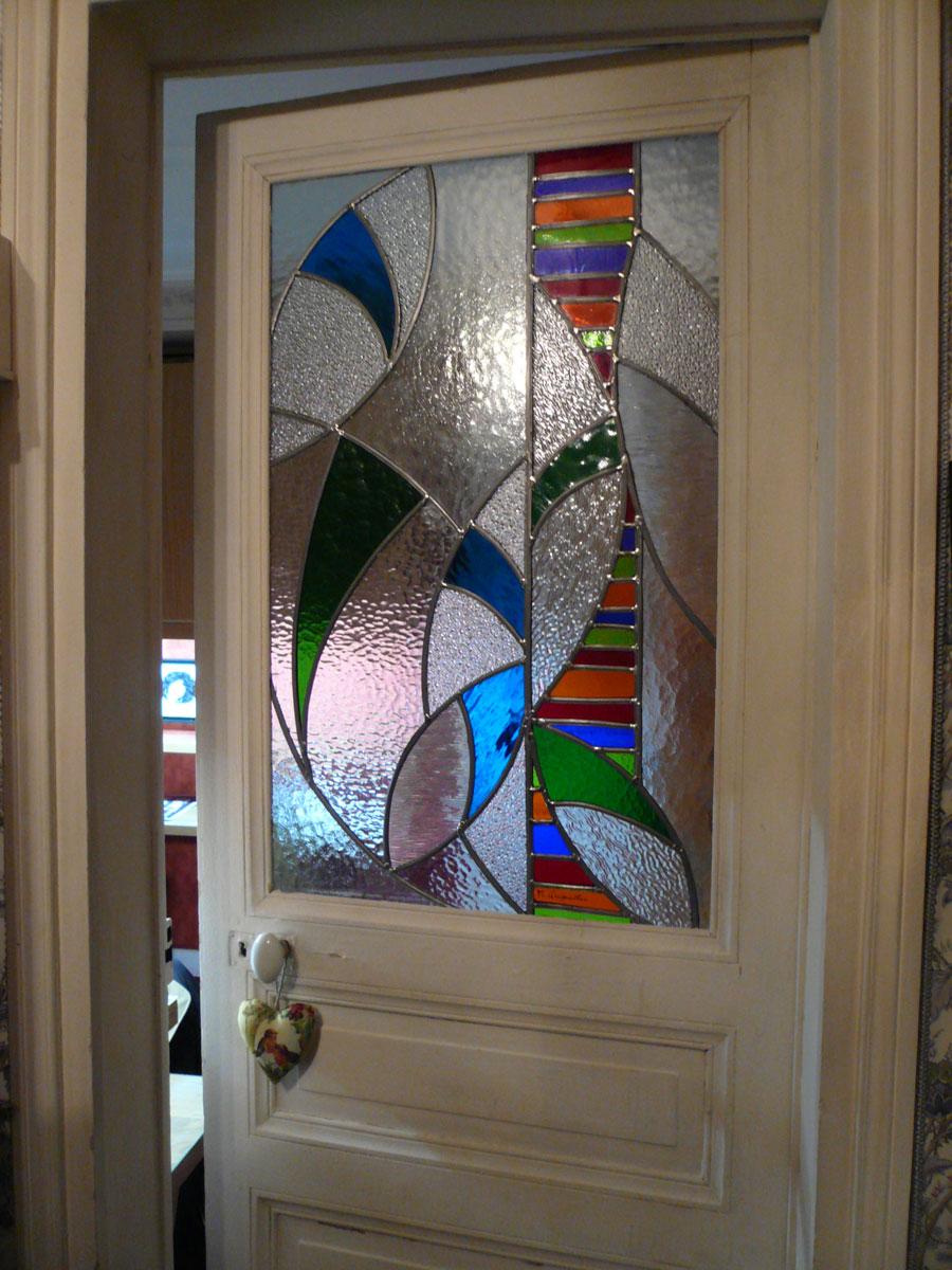 Création vitrail contemporain