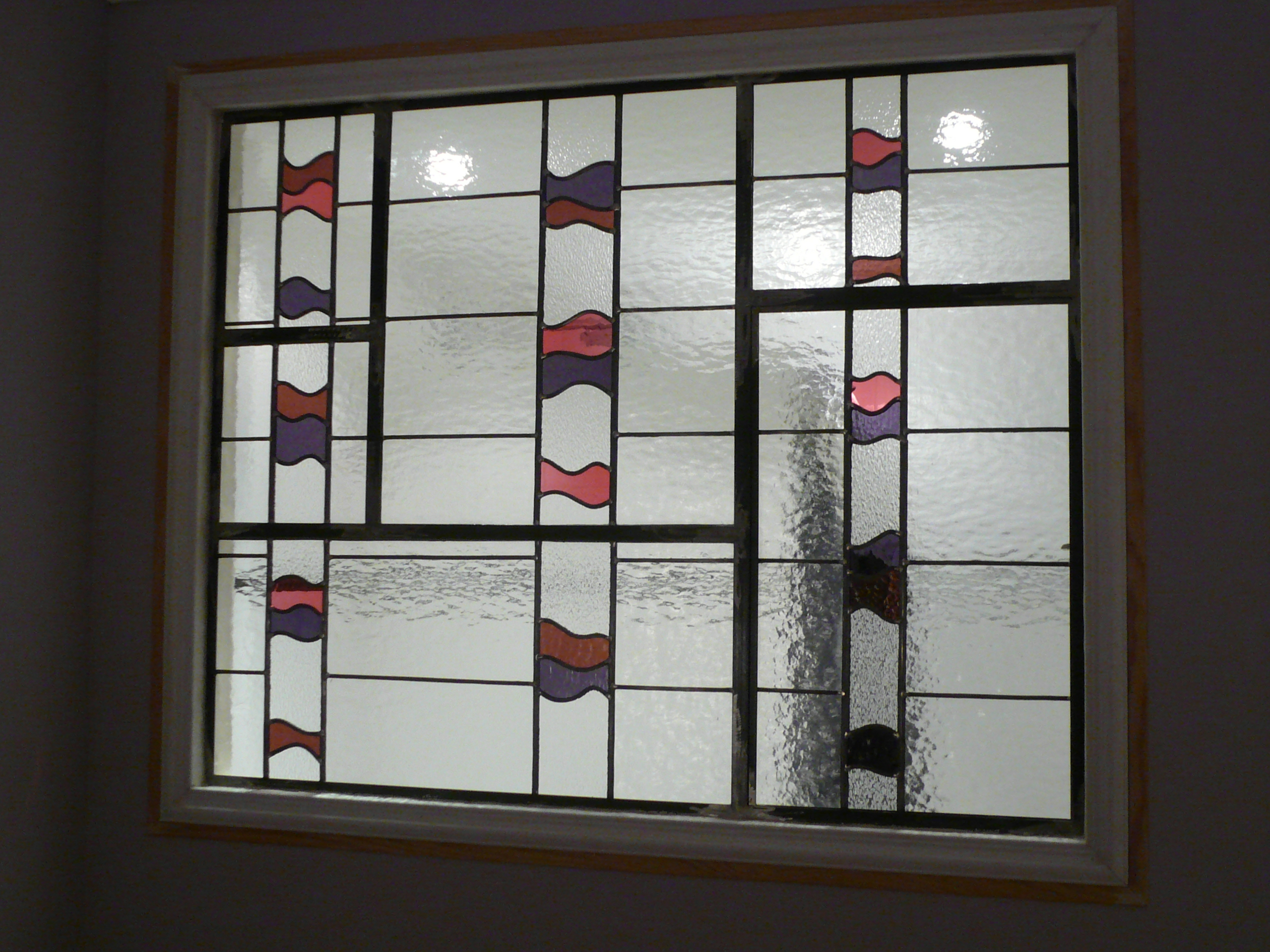 Verrière vitrail contemporain