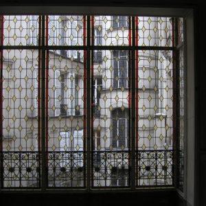 Restauration vitrail Bow window