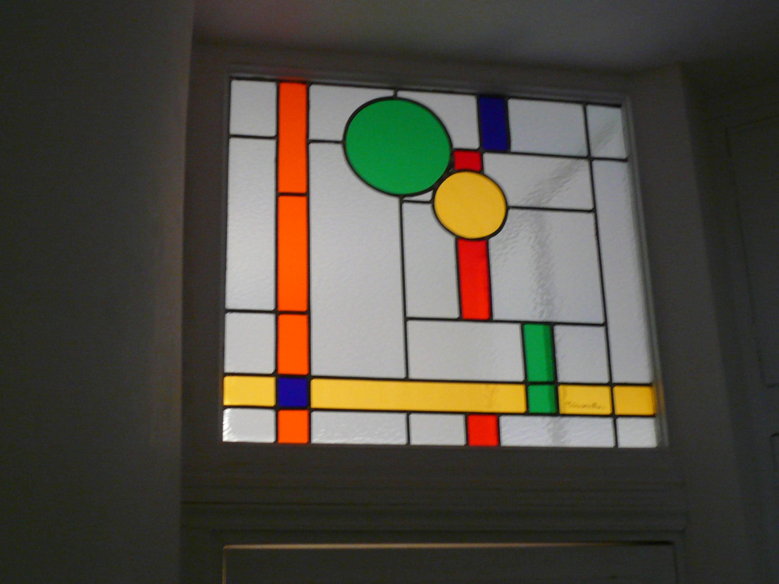 Vitrail inspiration Mondrian