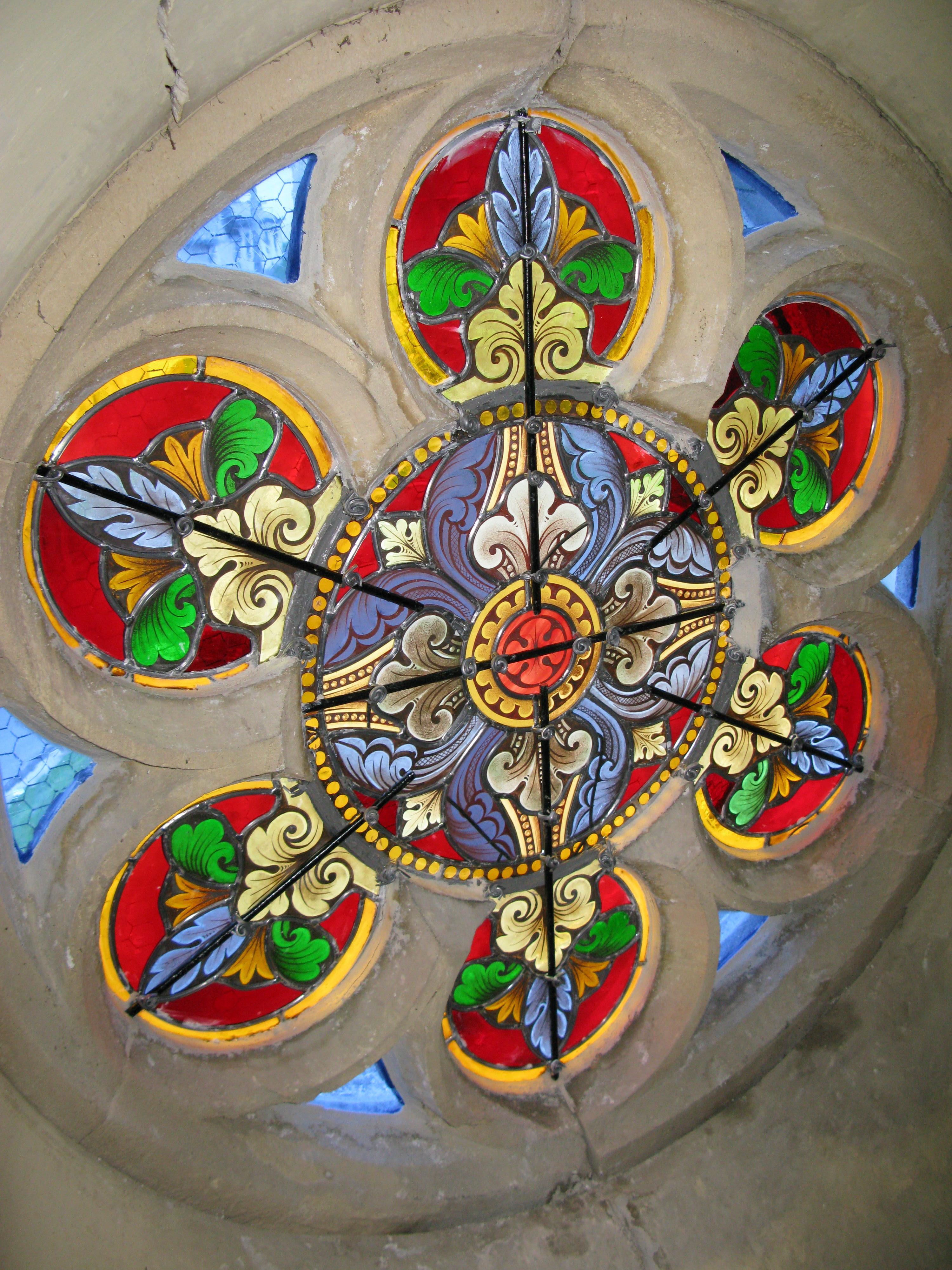 Restauration vitrail Rosace XIXème