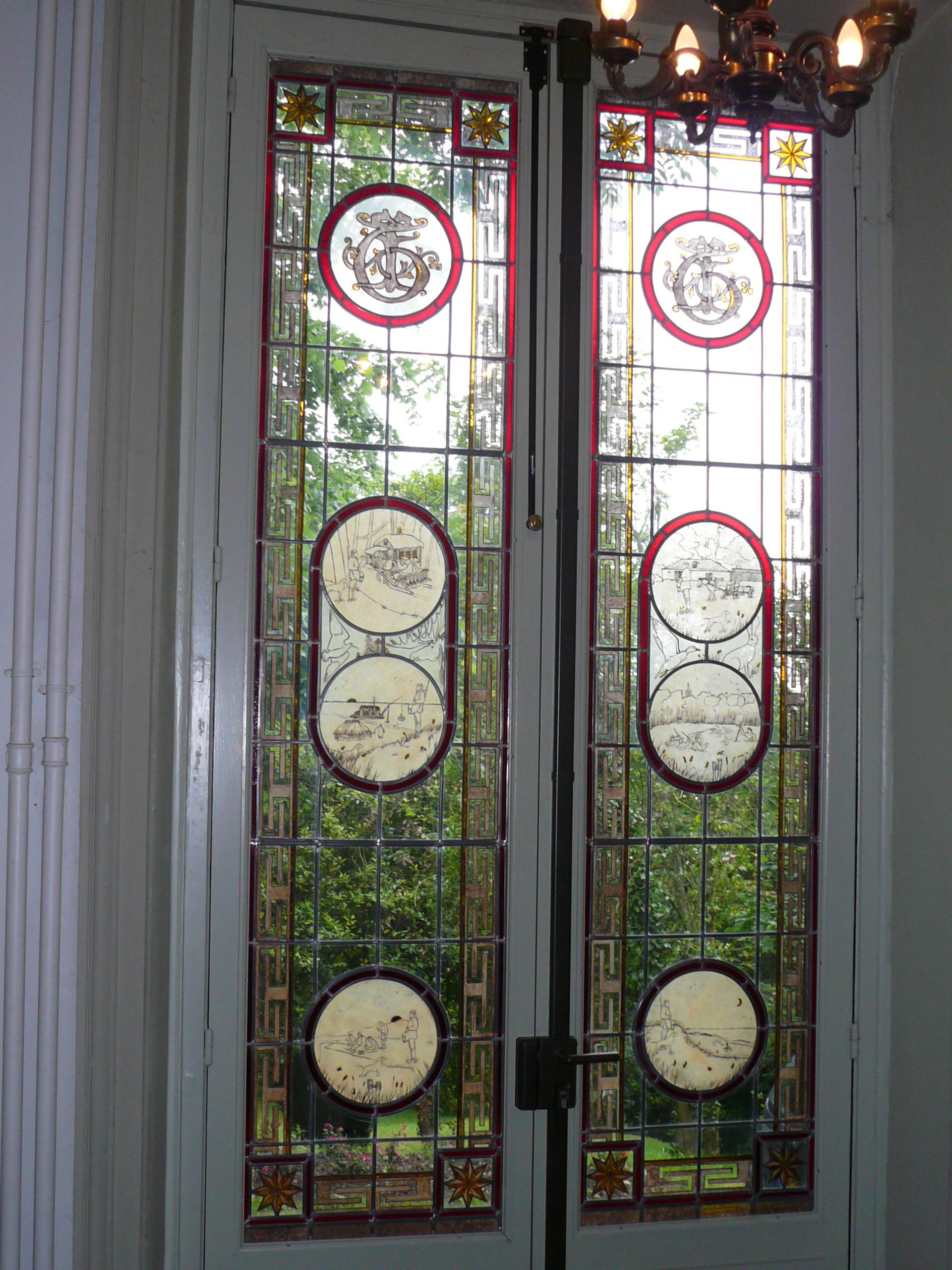 Restauration vitrail musée Tourgueniev