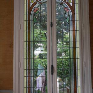 Restauration vitrail Art Nouveau